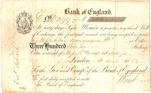 EARLY WHITE NOTES Pam West British Bank Notes – Note Payables