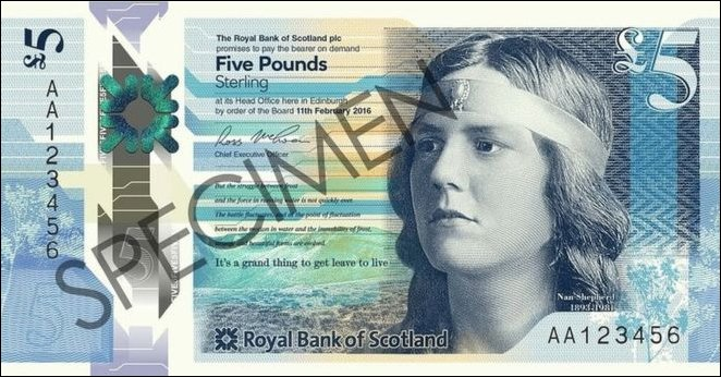 aa serial number 5 pound note